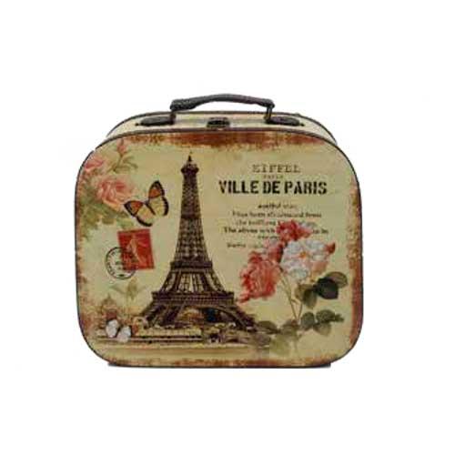 maleta vintage paris flor la carreta dorada